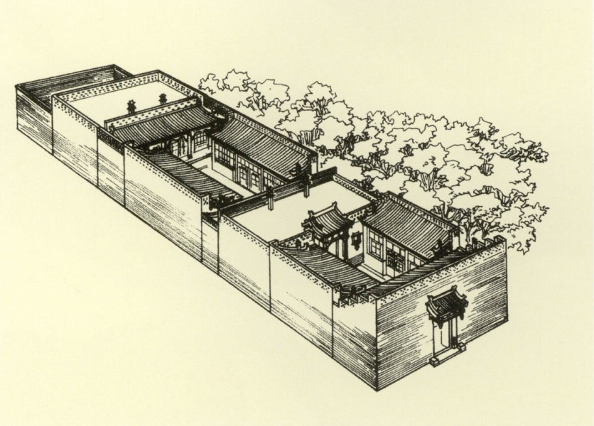 Traditional chinese houses courtyard for Traditional chinese house plans