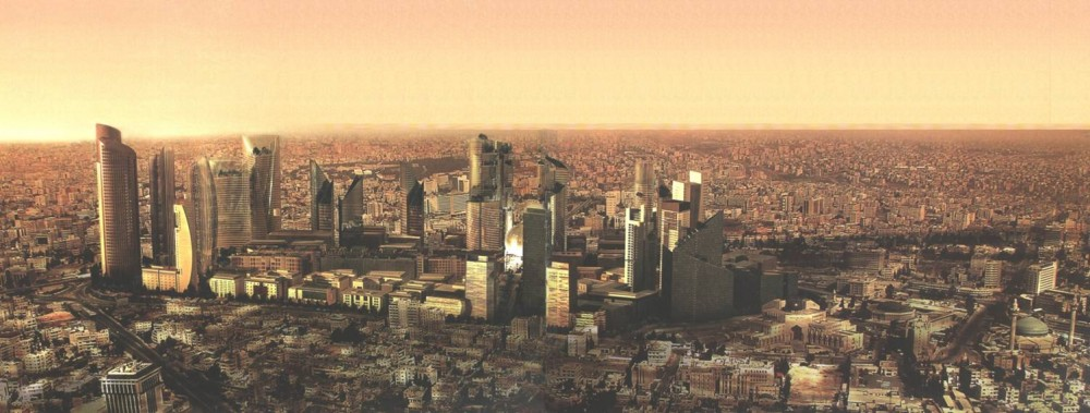 Amman Panoramic View With Abdali Project
